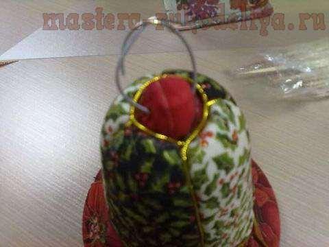 Мастер-класс: Пенопластовый колокольчик обтянутый тканью