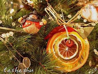 Мастер-класс по декорированию: Апельсиновый декор для елки