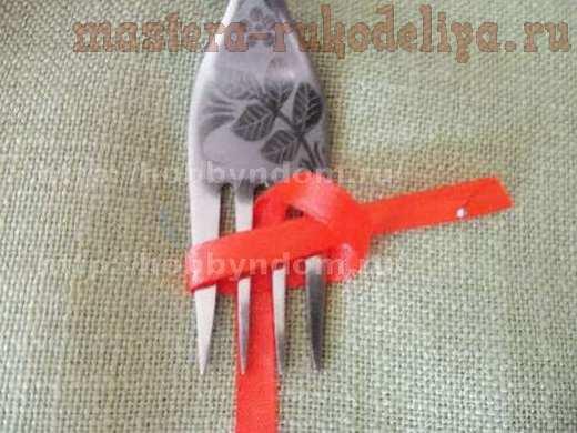 Мастер-класс по декорированию: Бантик на вилке