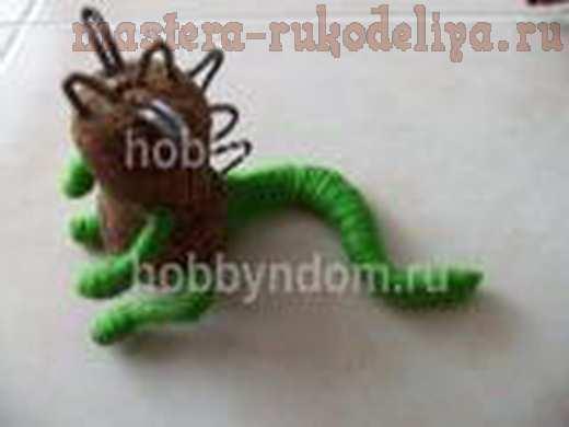 Мастер-класс по изготовлению игрушек: Дракончик из пробки