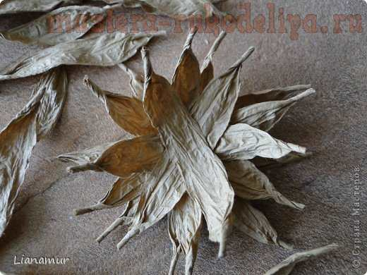 Мастер-класс: Кофейно-шпагатный цветок