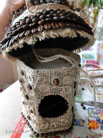 Мастер-класс: Кофейный птичий домик