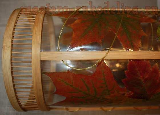 Мастер-класс по декорированию: Абажур из подножных материалов