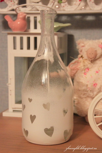 Мастер-класс по декорированию: Бутылка и фужеры