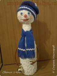 Мастер-класс по декорированию: Бутылка; Снеговик.