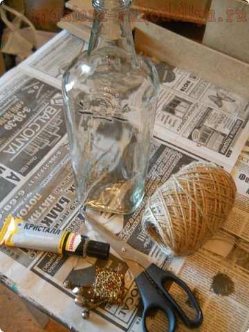 Мастер-класс по декорированию: Бутылочка для интерьера