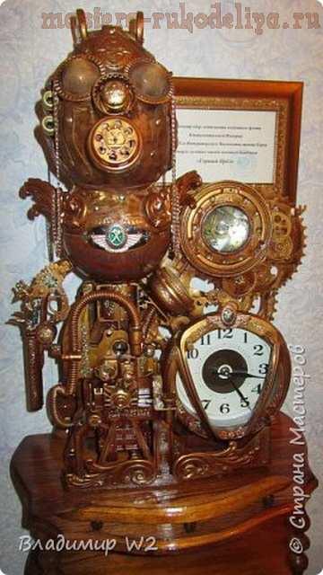 Мастер-класс по декорированию: Часы; Горный Орёл; в стиле таймпанк