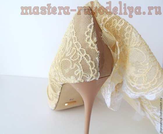 Мастер-класс по декорированию: Декор свадебных туфелек
