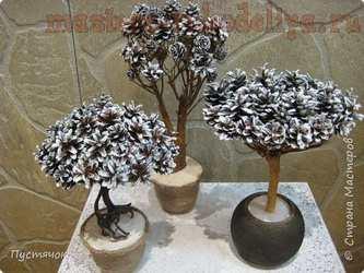 Мастер-класс по декорированию: Заснеженные деревца