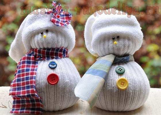 Делаем снеговика из всего, что под рукой!