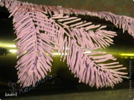 Мастер-класс по декорированию: Елочные лапы шпатлевкой
