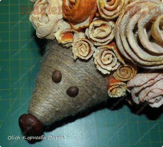 Мастер-класс по декорированию: Ежик в апельсиновых розах