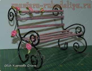 Мастер-класс по декорированию: Игрушечная скамейка