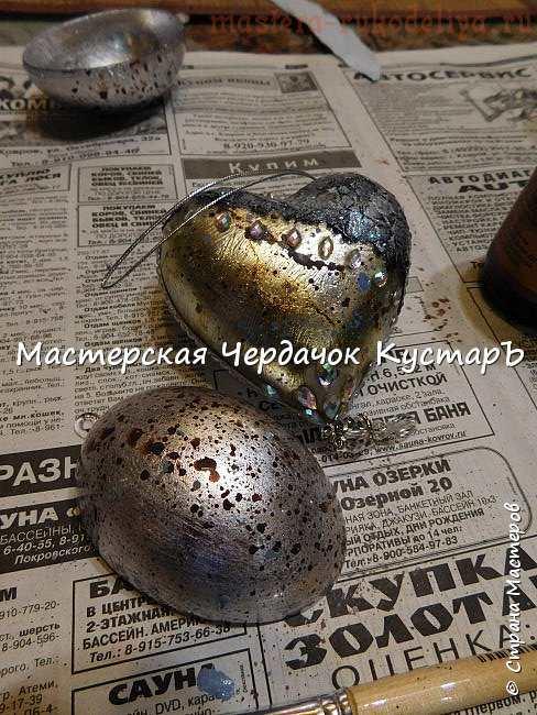 Декорирование своими руками: Елочная игрушка Горный хрусталь