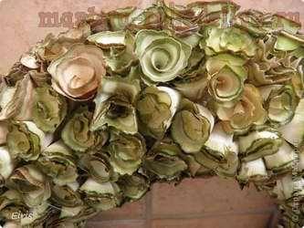 Мастер-класс: Деревянные розочки - Осенний венок