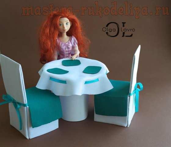 Мастер-класс по работе с деревом: Красивый дом и мебель для кукол Барби