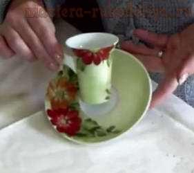 Техника рисования одним мазком: Роспись чайной пары