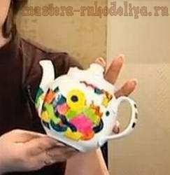 Видео мастер-класс по росписи по стеклу: Заварочный чайник