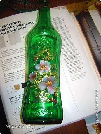 Мастер-класс: Роспись бутылки в технике One Stroke
