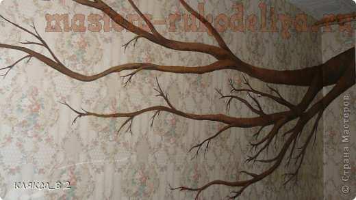 Мастер-класс по рисованию: Дерево для детской