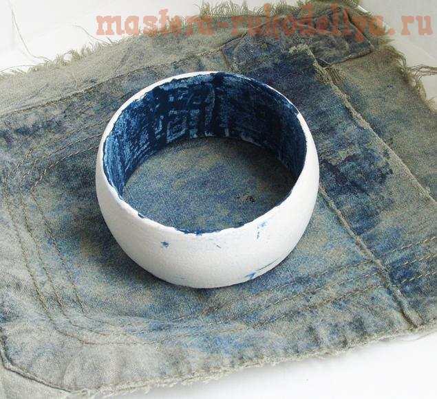 Мастер-класс по росписи: Джинсовый браслет