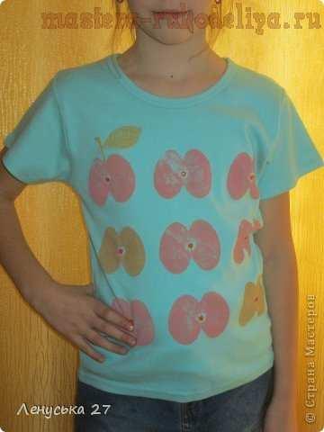 Мастер-класс по росписи на ткани: Футболка; В яблочко.