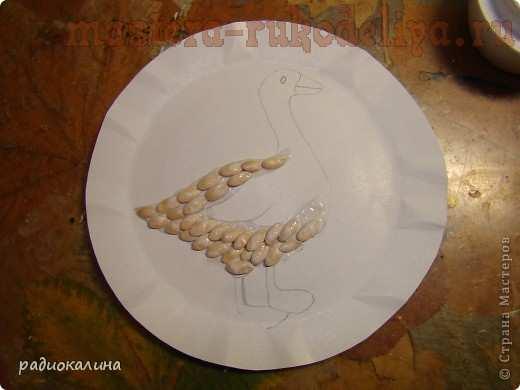 Мастер-класс по рисованию крупами: Гусь лапчатый