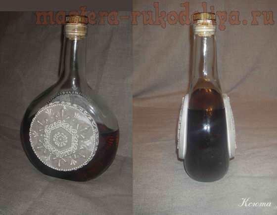 Мастер-класс по имитация окисленной меди: Бутылка Из лавки старьевщика