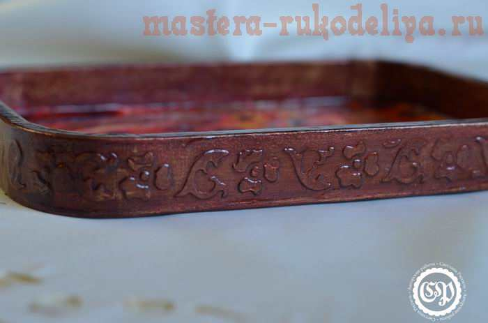 Мастер-класс по росписи: Поднос в технике Jacarelado - «ложная мозаика» с рельефной поверхностью