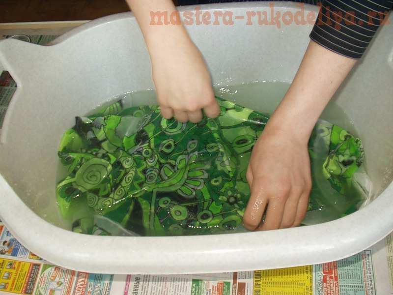 Мастер-класс по батику: Как стирать батик