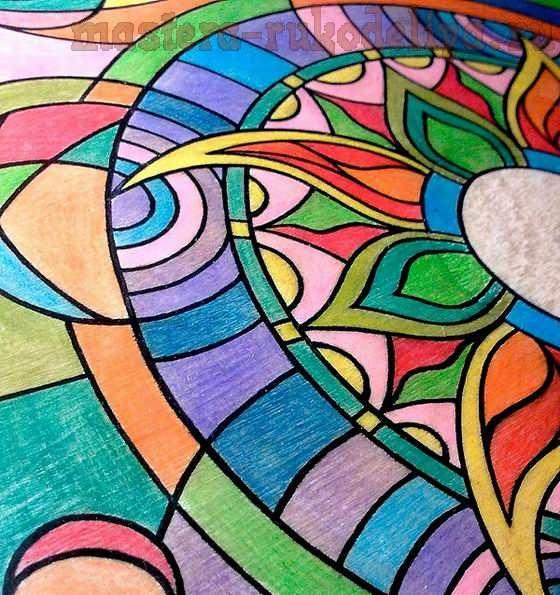 Мастер-класс по росписи: Контуры гелевыми и шариковыми ручками