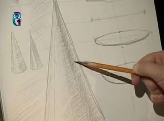 Видео мастер-класс по рисованию карандашом: Рисуем конус