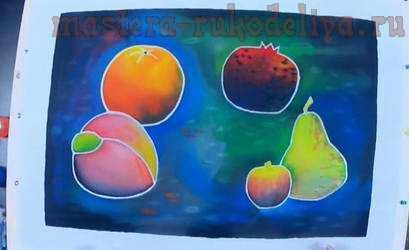 Видео мастер-класс по батику: Картина с фруктами