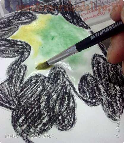 Мастер-класс по рисованию для детей: Акварель по мокрому
