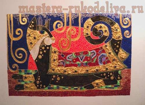 Мастер-класс по росписи: Декоративное панно; Царевна-кошка.