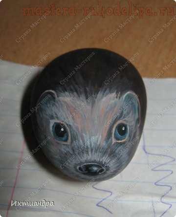 Мастер-класс по росписи камней: Ёжик