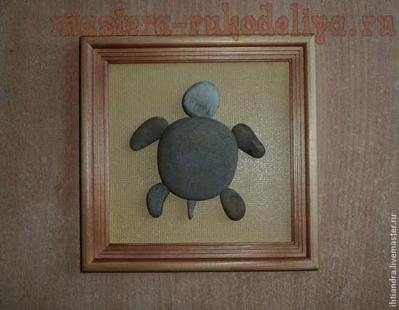 Мастер-класс по точечной росписи Point to point: Каменная черепашка