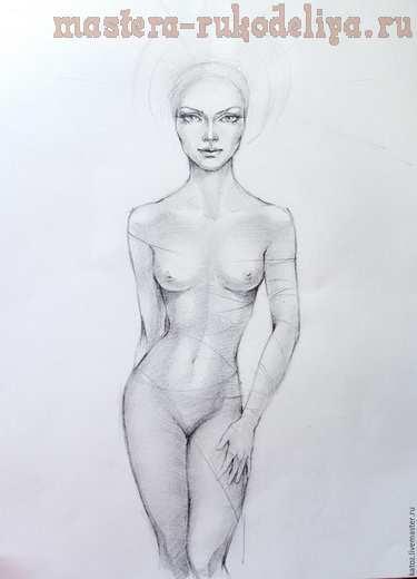 Мастер-класс по витражной росписи: Картина Princess Of The Dawn в смешанной технике
