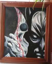 Мастер-класс по рисованию: Картина; Тёмный рыцарь.