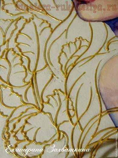 Мастер-класс по витражной росписи: Картина в смешанной технике: витражная роспись и рисунок гуашью