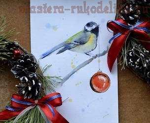 Мастер-класс по рисованию: Картина акварелью «Птичка»