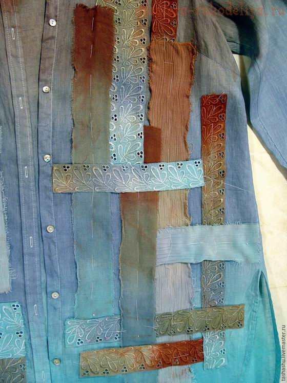 Как покрасить рубашку в стиле боро