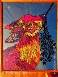 Мастер-класс по рисованию: Фиолетово-розовое пластилиновое настроение