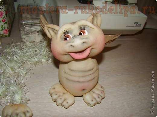 Мастер-класс по шитью игрушек из капрона: Дракончики