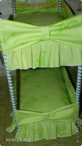 Мастер-класс по шитью игрушек: Двухъярусная кровать для кукол