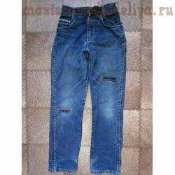 Мастер-класс по шитью: Ремонт и декор джинсов для мальчика