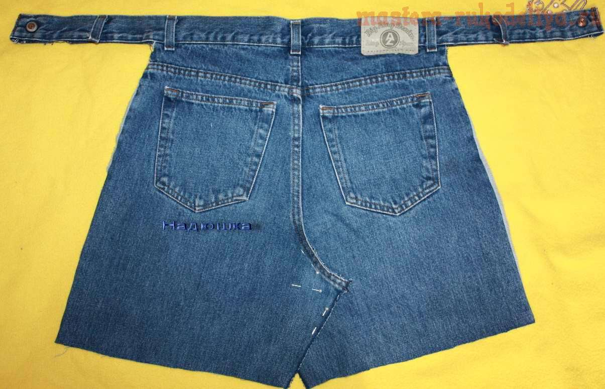 Мастер-класс: Фартук для сына из старых джинсов