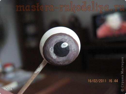 Мастер-класс по шитью игрушек из капрона: Глазки для; попика.