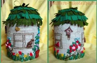 Мастер-класс по шитью: Шкатулка - Пряничный домик