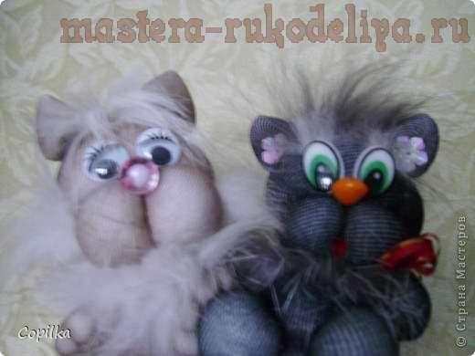 Мастер-класс: Текстильные игрушки из колготок - Котики
